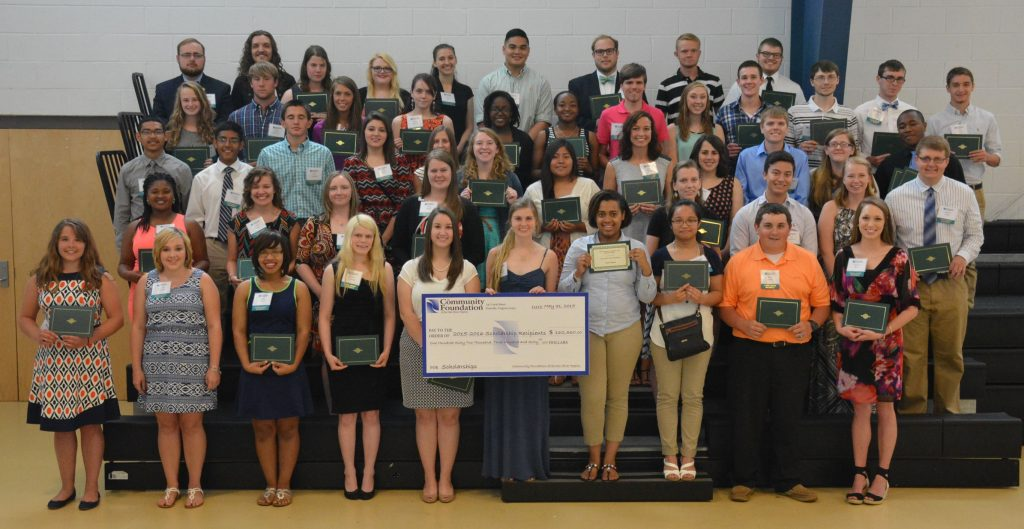 Students from Danville, Pittsylvania County and Caswell County, North Carolina, earned more than $160,000 in college scholarships from the Community Foundation of the Dan River Region on Sunday.